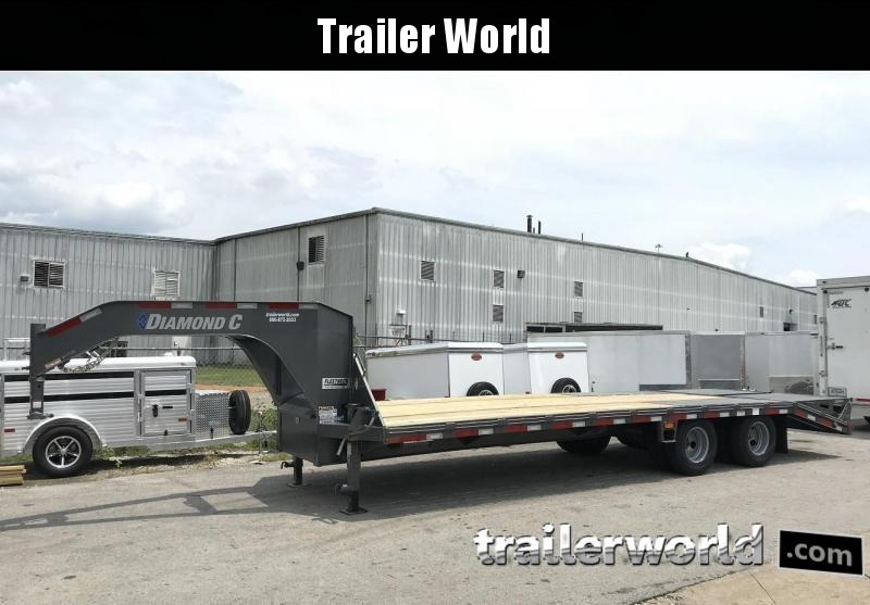 2019 Diamond C FMAX210 27' + 5' Gooseneck Flatbed Equipment Trailer 25k GVWR