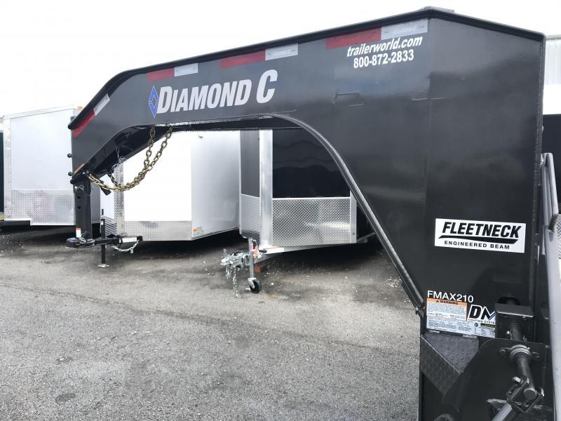 2019 Diamond C FMAX210 32' Gooseneck Flatbed Equipment Trailer 25k GVWR