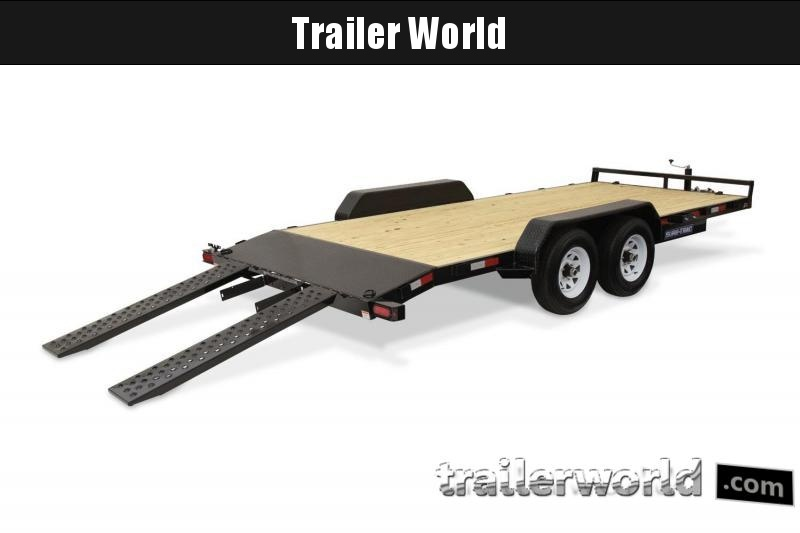 2019 Sure-Trac C-Channel 18' Wood Deck Car Hauler Trailer