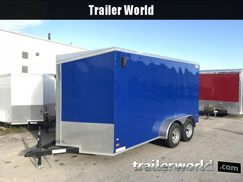 2017 CW 7' x 14' x 6.5' Vnose Enclosed Cargo Trailer w/ D-Rings