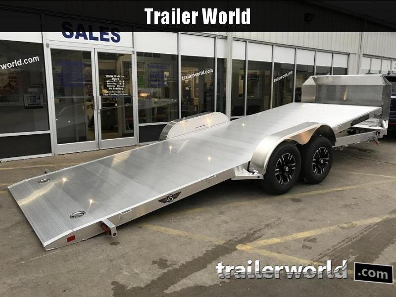 2019 Aluma 21.5' Aluminum Tilt Bed Open Car Hauler Trailer 10k GVWR