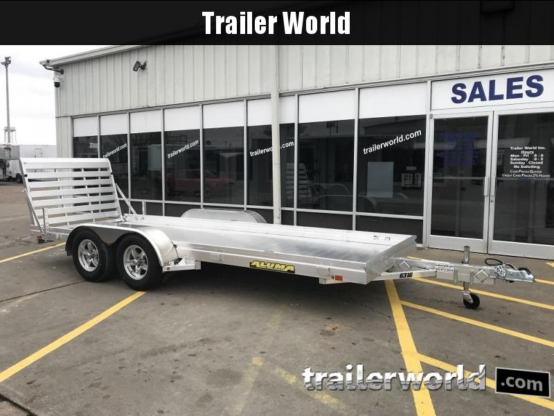 2020 Aluma 6316 Tandem Utility Trailer