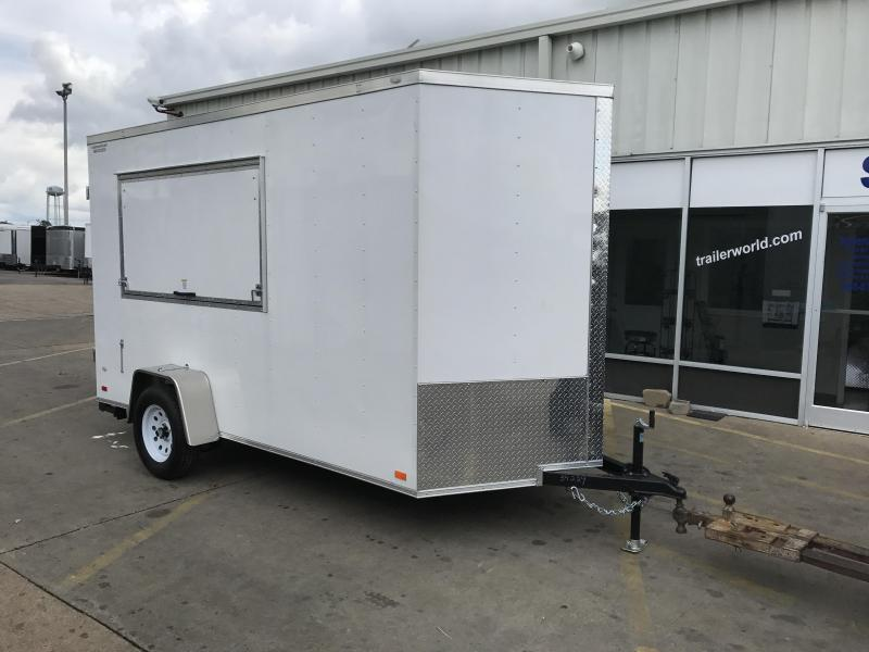 2018 Covered Wagon 6' x 12' x 7' Vendor Vending / Concession Trailer
