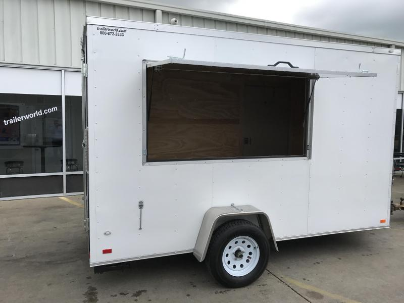 2018 Covered Wagon 6' x 12' x 7' Vendor Vending / Concession Trailer