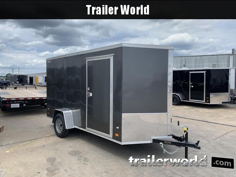 """2019 CW 6' x 12' x 6'3""""  V-Nose Ramp Door Trailer"""