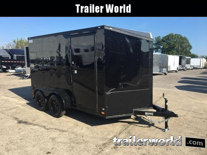 2018 CW 7' x 12' x 6.5' Vnose Enclosed Trailer Black Out