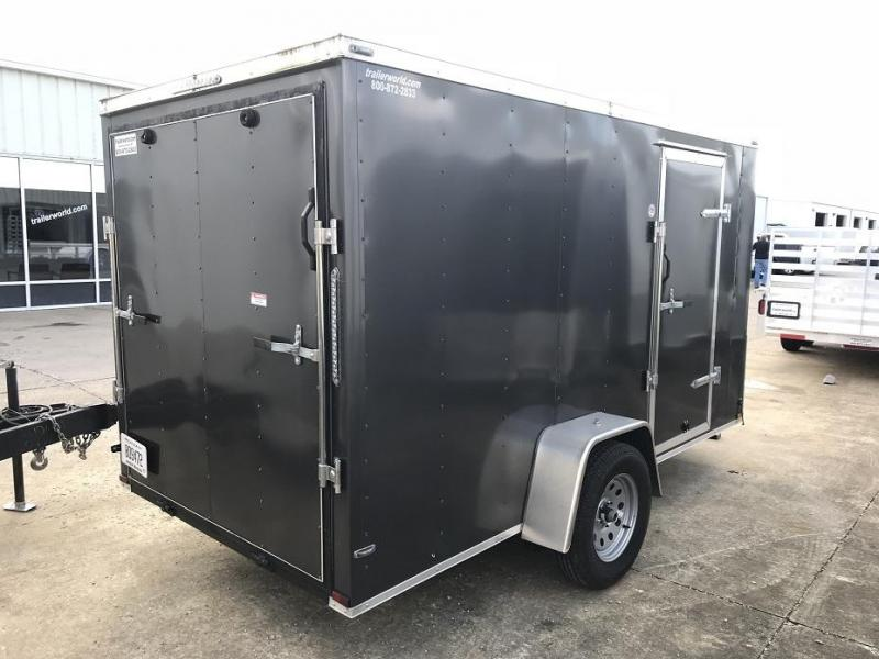 2017 Lark 6' x 12' x 6' Vnose Ramp Door Trailer w D-Rings