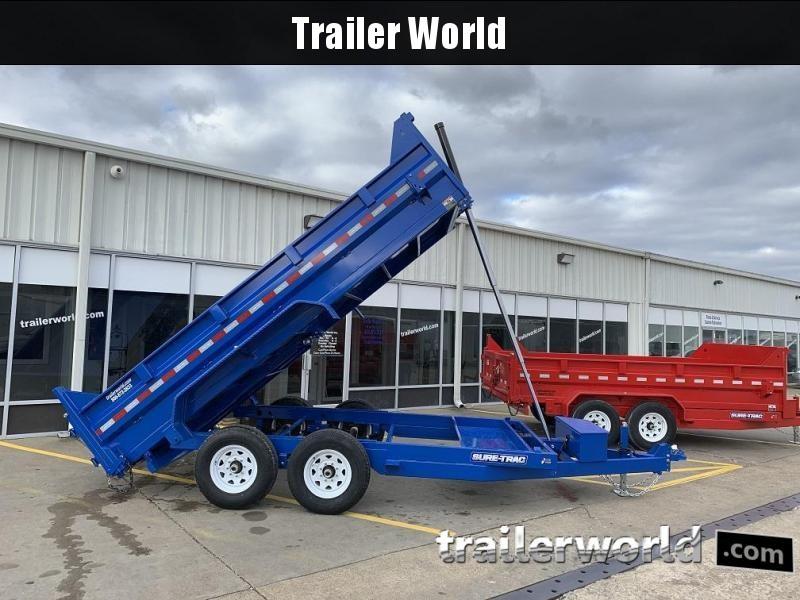 2019 Sure-Trac 14' Dump Trailer 14K GVWR Telescopic Hoist in Ashburn, VA