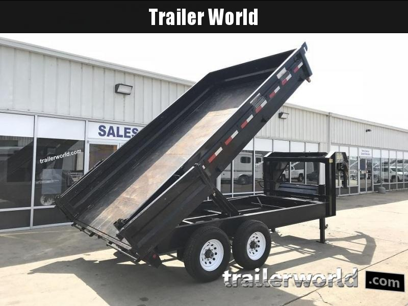 2015 Big Tex 14OD-14' GN Dump Trailer Fold Down Sides