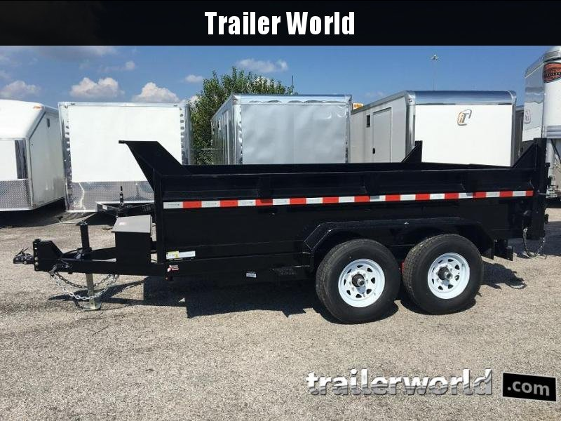 2019 Sure-Trac  12' Dump Trailer 12K Dual Ram