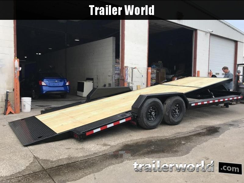 2019 Midsota TBWB22 22' Power Tilt Equipment Trailer