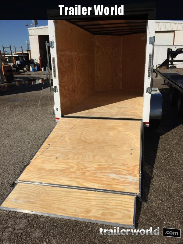 "2019 CW 6' x 12' x 6'3"" Tandem Cargo V-Nose Ramp Door Trailer"