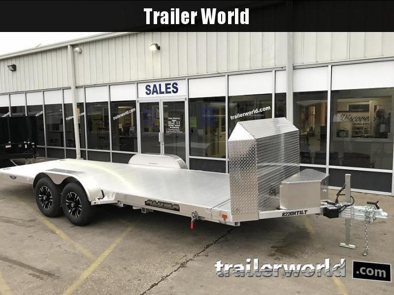 2020 Aluma 21.5' Aluminum Tilt Bed Open Car Hauler Trailer 10k GVWR