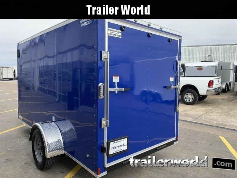 """2020 Continental Cargo 6' x 12' x 6'3"""" Enclosed Cargo Trailer w/ D-RIngs"""