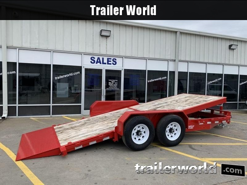 2019 Sure-Trac 18' Tilt Bed Equipment 14k GVWR Oak Deck
