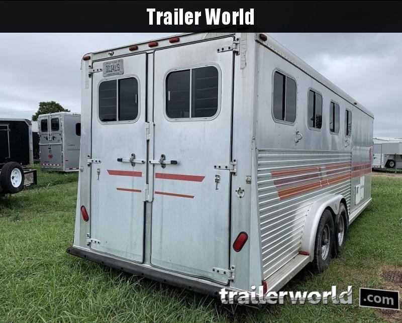 1996 Sooner Slant Load Gooseneck 4 Horse Trailer