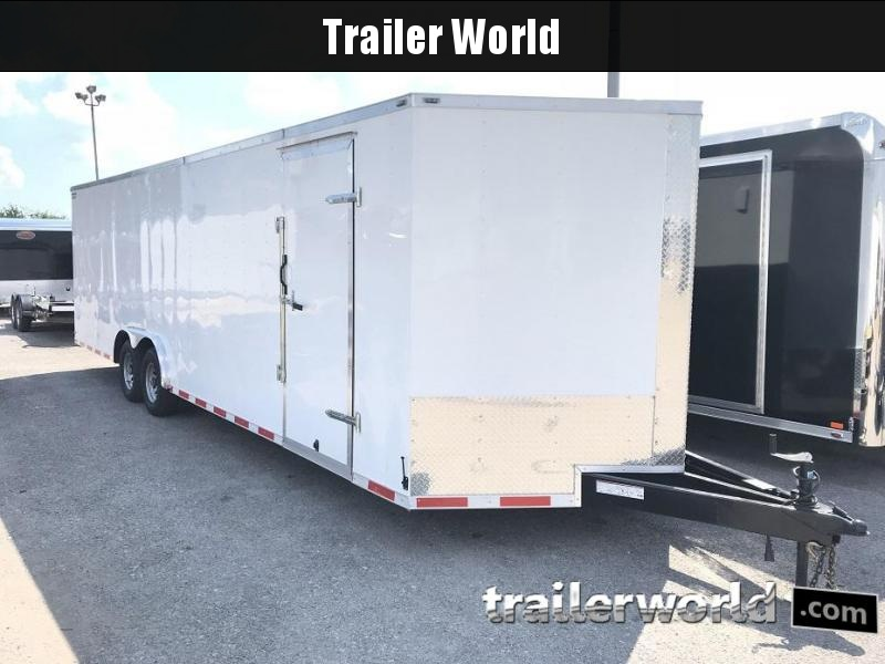2018 Lark 28'  Vnose Enclosed Car Trailer
