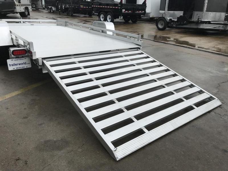 2019 Aluma 7712HSLR Anniversary Edition 12' Aluminum Utility Trailer w/ Slide-In Ramp
