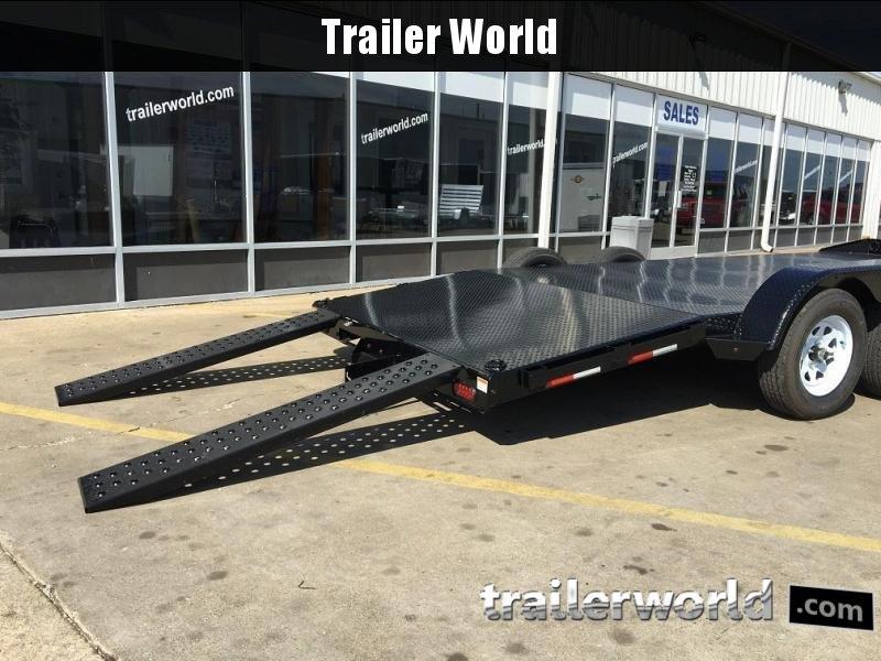 2018 Sure-Trac 18' Steel Deck Car Hauler 7k GVWR