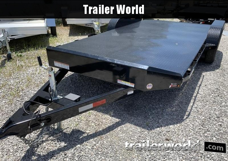 2018 Sure-Trac 18' Steel Deck Car Hauler Trailer 7k GVWR