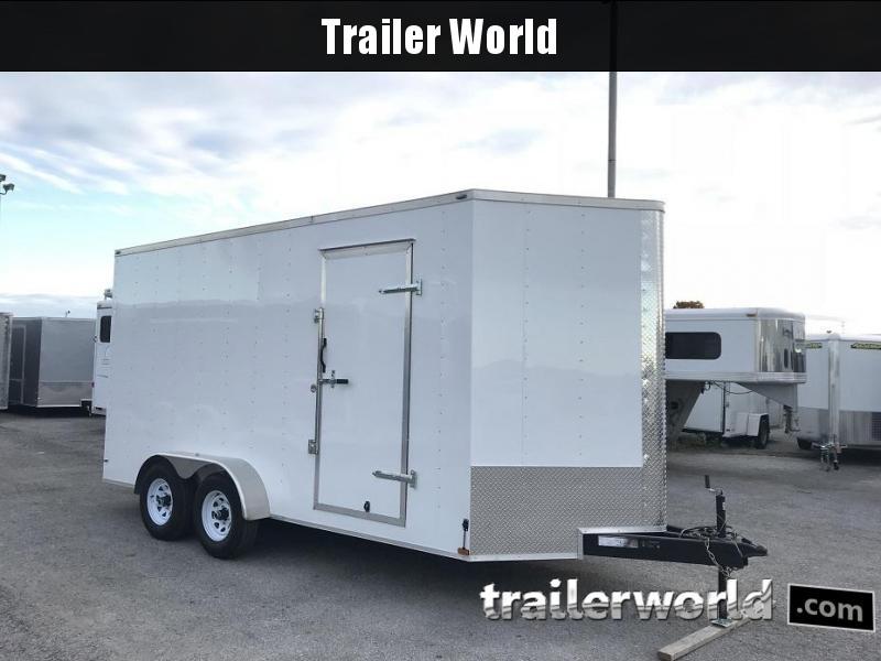 2018 Lark 7' x 16' x 8' Vnose Enclosed Cargo Trailer