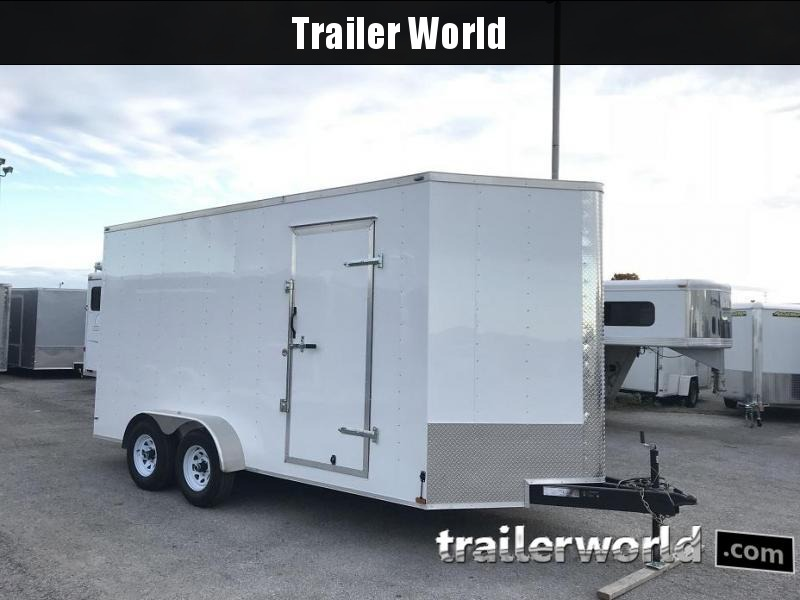 2018 Lark 7' x 16' x 7.5' Vnose Enclosed Cargo Trailer