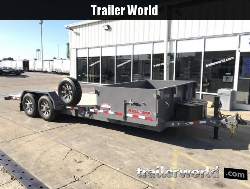 2018 Midsota HS-21Tilt 21'  5' Dump + 16' Tilt Trailer 15k GVWR