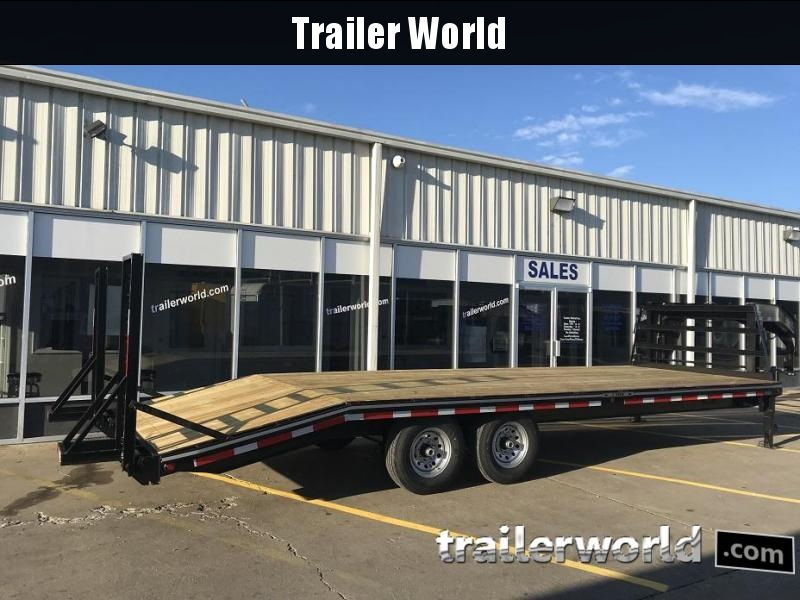2018 Better Built Gooseneck Flatbed 25' Equipment Trailer 7 Ton