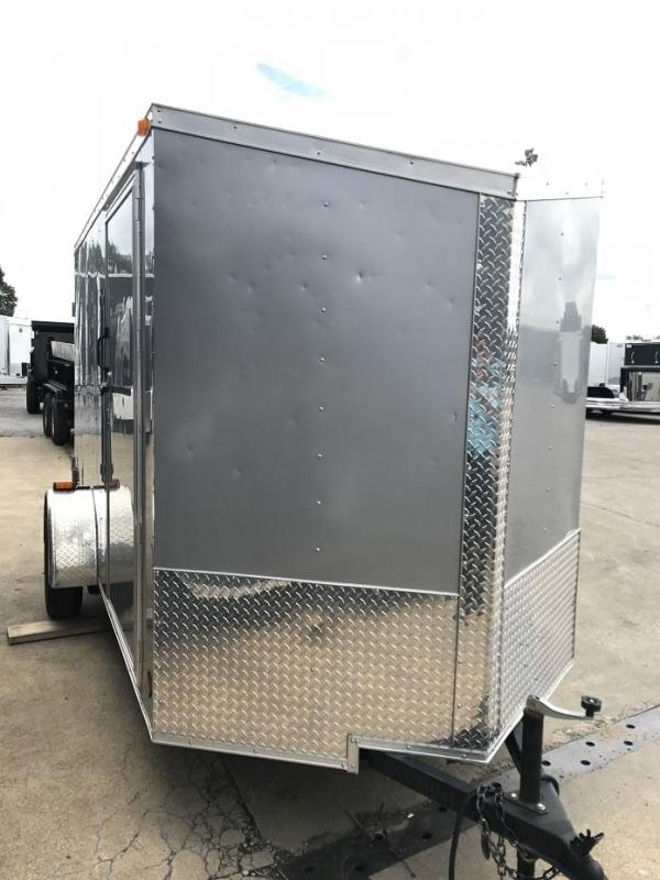 """2016 CW  6' x 12' x 6'6"""" Slanted V Enclosed Cargo Trailer Cargo Doors"""
