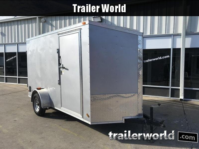 "2016 CW  6' x 12' x 6'6"" Slanted V Enclosed Cargo Trailer Cargo Doors"