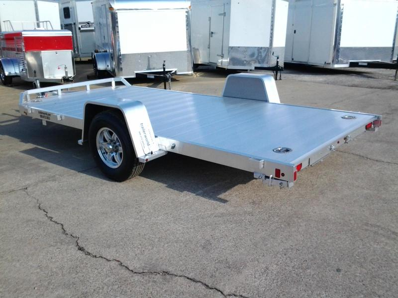 2019 Aluma 8214HS 14' Single Axle Aluminum Open Car Hauler Trailer