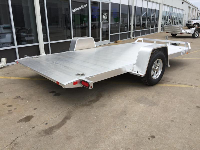 2019 Aluma 8214HS 14' Single Axle Aluminum TILT Open Car Hauler Trailer
