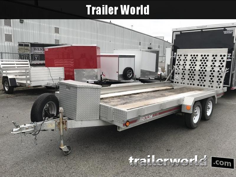 1995 Triton 16' Aluminum Tandem Utility Trailer