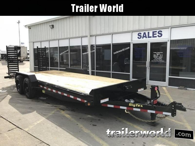 2019 Big Tex NEW MODEL 16ET-22' Low Profile Equipment Trailer 8 Ton