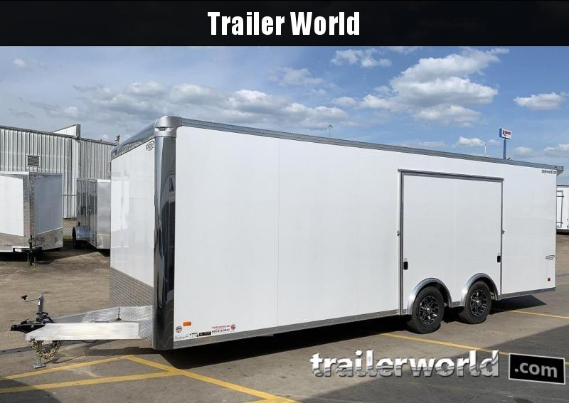 2020 Bravo Star 24' Aluminum Enclosed Car Trailer Spread Axles