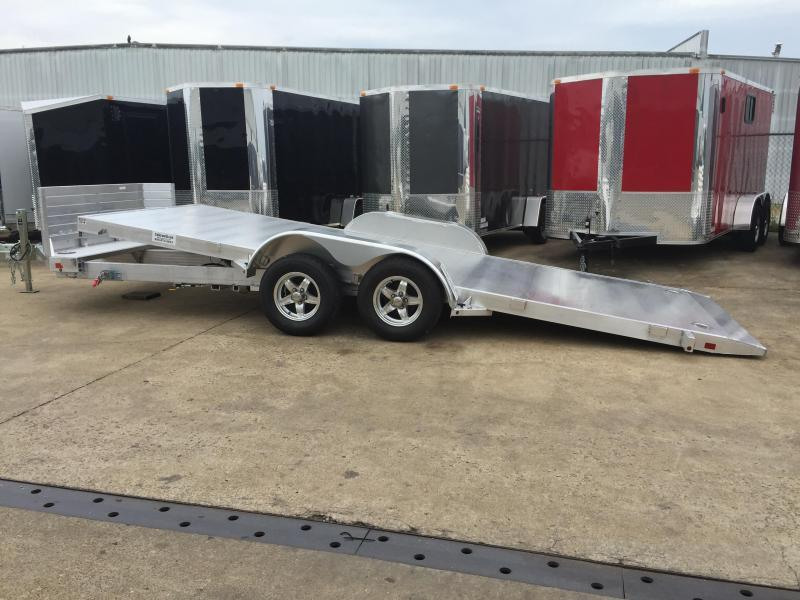 2018 Aluma 8218 Tilt Bed Aluminum Open Car Hauler Trailer