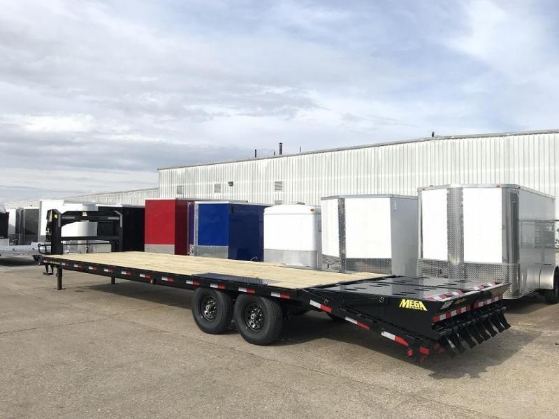 2019 Big Tex Trailers 14GN-25' + 5' Flatbed Equipment Trailer MEGA RAMPS