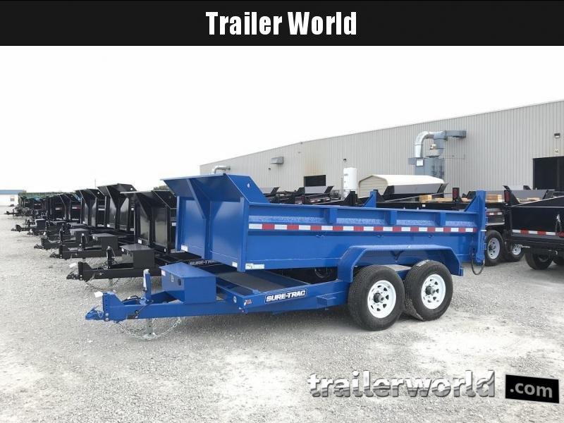 2019 Sure-Trac 12' Dual Ram Dump Trailer 12k GVWR