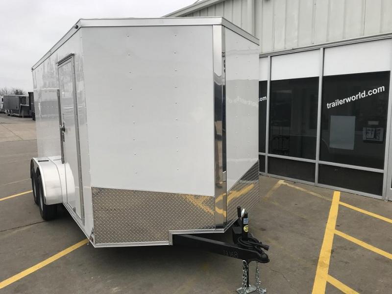 2019  7' x 14' x 6.6' Vnose Enclosed Cargo Trailer