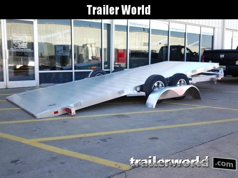 2019 Aluma 8216 Tilt Bed Aluminum Open Car Hauler Trailer