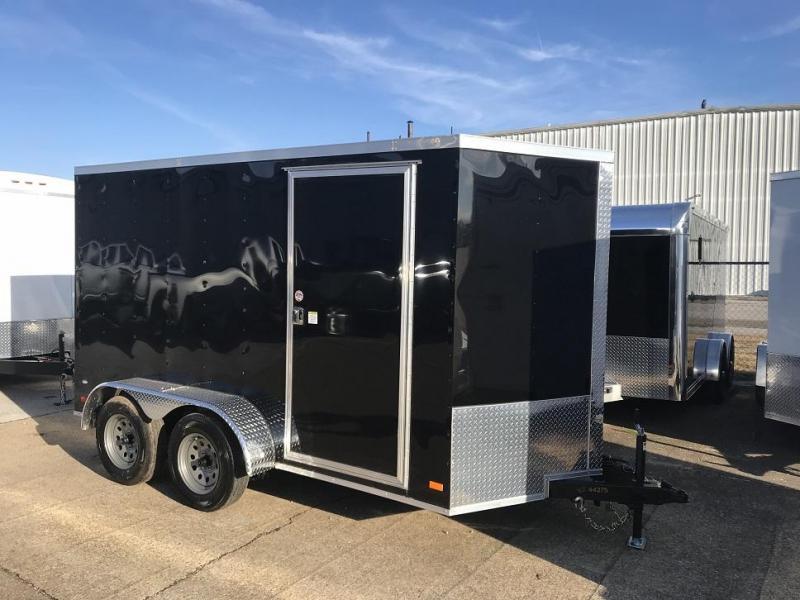 2019 CW 6' x 12' x 6.6' Vnose Tandem Enclosed Trailer Ramp Door