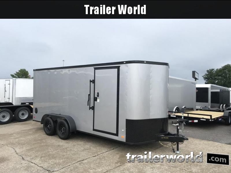 2019 CW 7' x 16' x 6.5' Vnose Enclosed Cargo Trailer BLACK OUT
