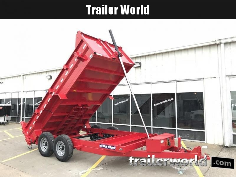 2019 Sure-Trac 14' Telescopic Dump Trailer 14K GVWR