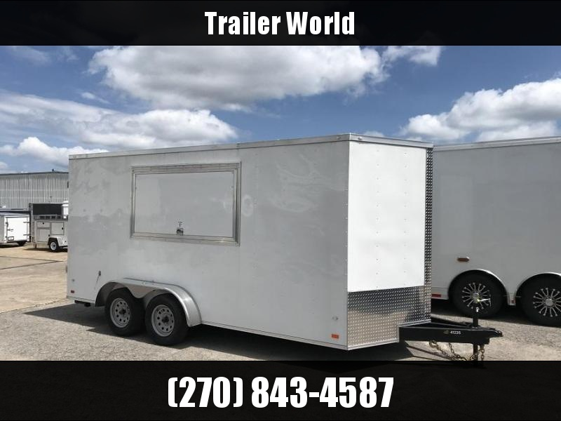 2019 CW 7' x 16' x 7' Vendor Trailer