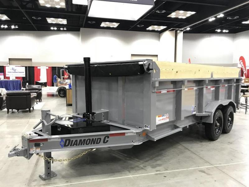 2019 Diamond C LPD 16' SUPER Dump Trailer Low Profile Commercial Grade 22k GVWR