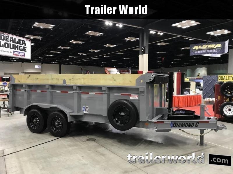 2019 Diamond C LPD 16' SUPER Dump Trailer Low Profile Commercial Grade 20k GVWR