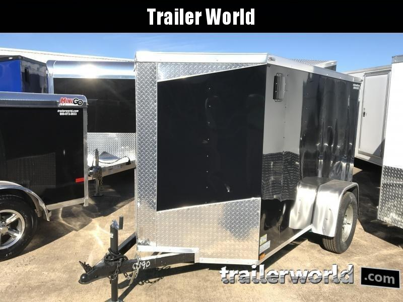 2019 Lark 5' x 8'  Enclosed Vnose Cargo Trailer Ramp Door
