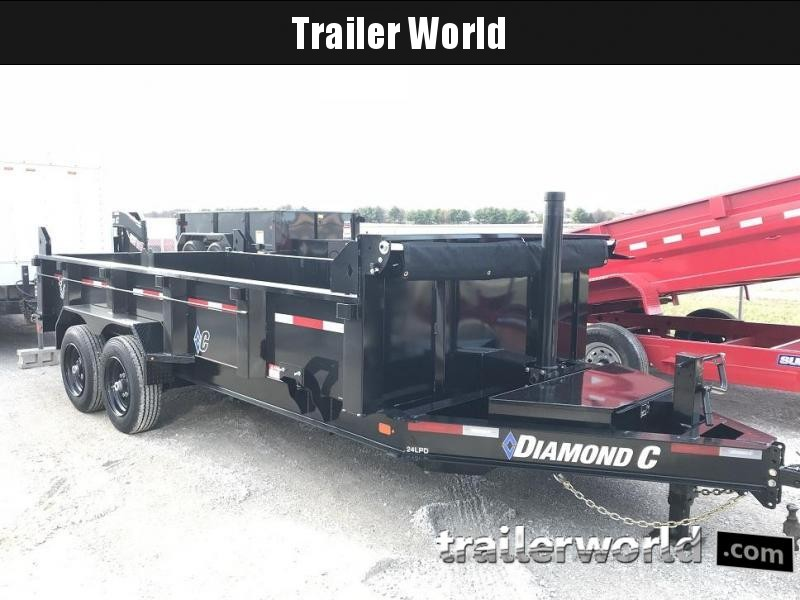 2019 Diamond C LPT 16' Dump Trailer Low Profile Commercial Grade 15k GVWR