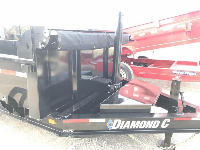 2019 Diamond C LPT 16' Dump Trailer Low Profile Commercial Grade 15k GVWR