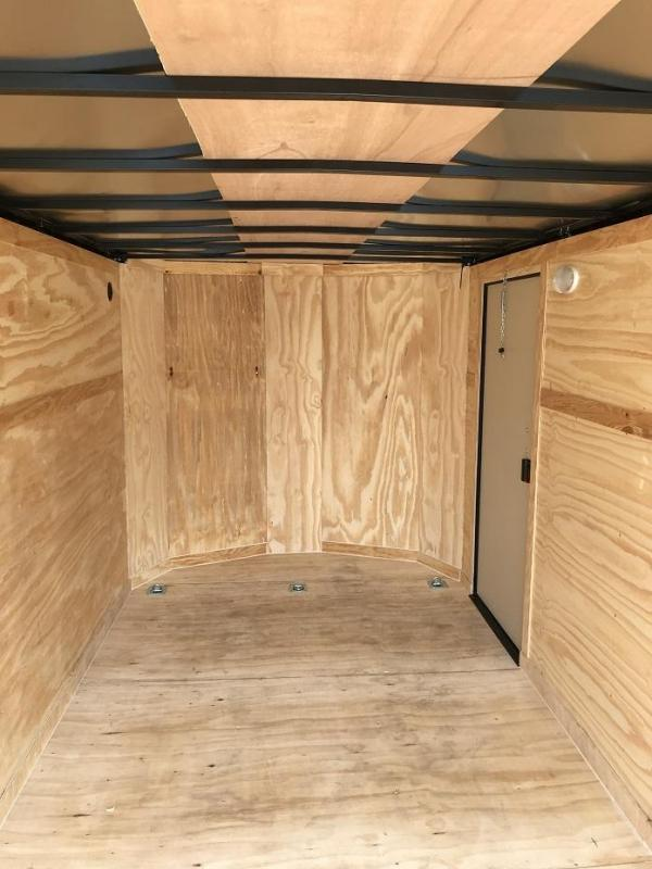 2018 CW 7' x 16' x 6.5' Vnose Enclosed Cargo Trailer BLACK OUT